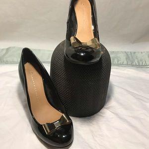 Lauren Conrad Metal Bow Black Heels